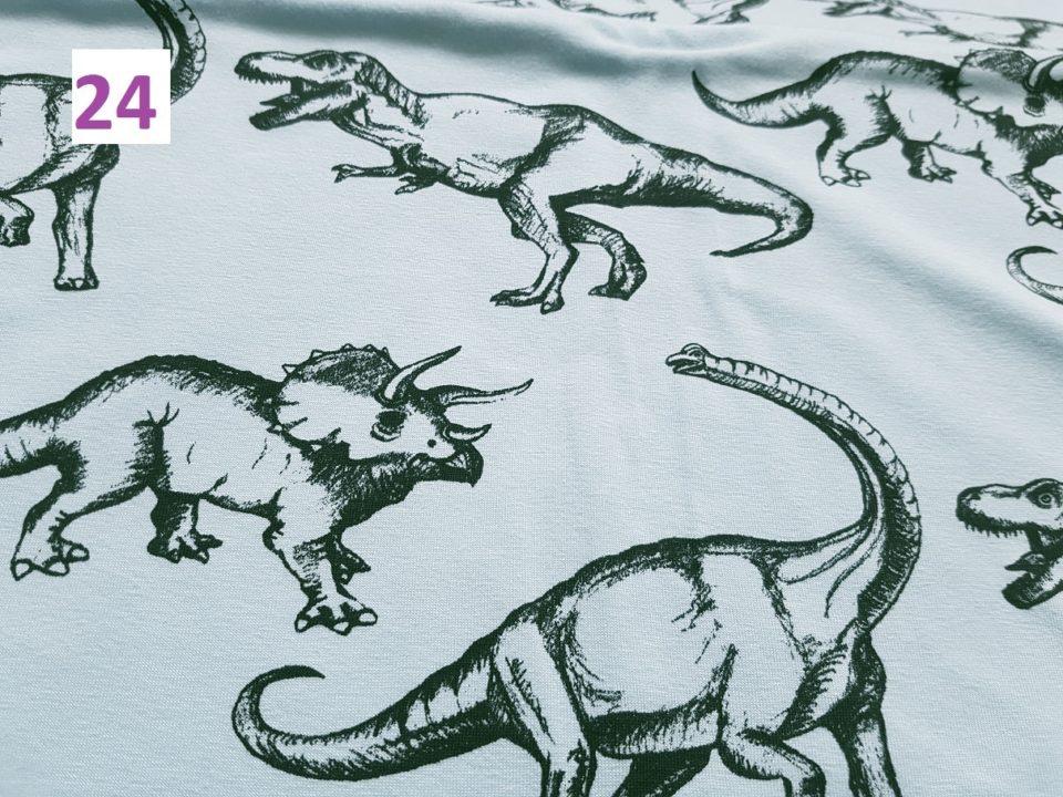 24 - dinosauři na modré