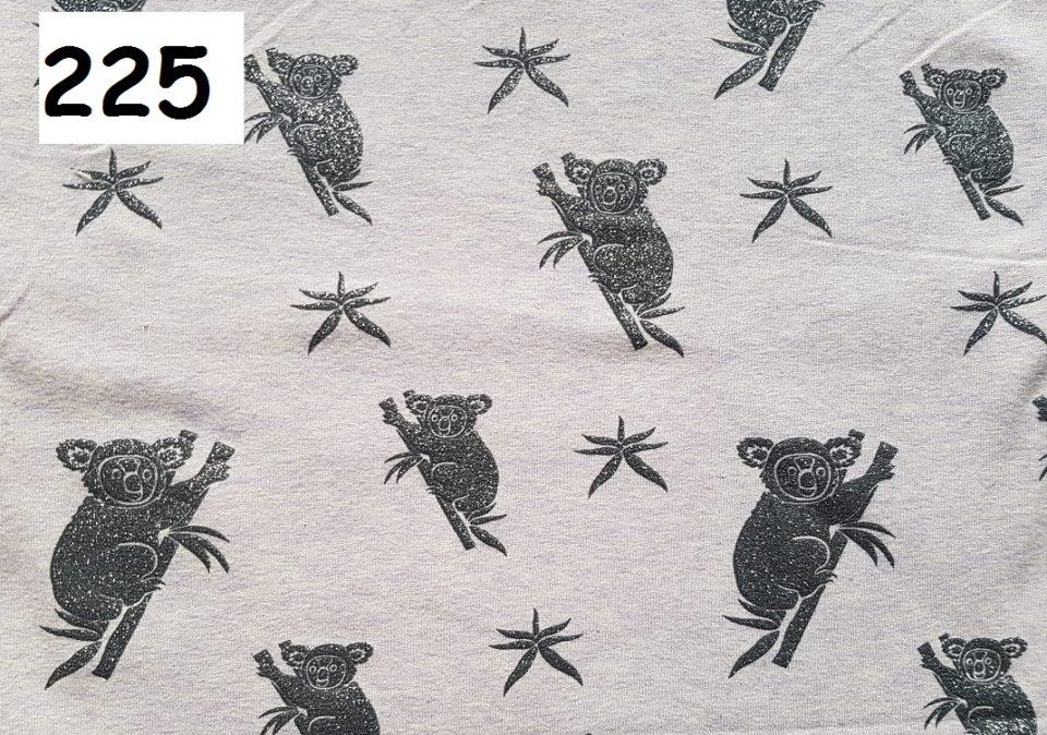 225 - panda stříbrná
